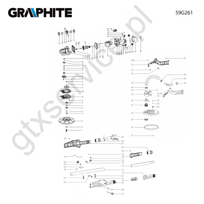 Szlifierka do gipsu - GRAPHITE                                        59G261