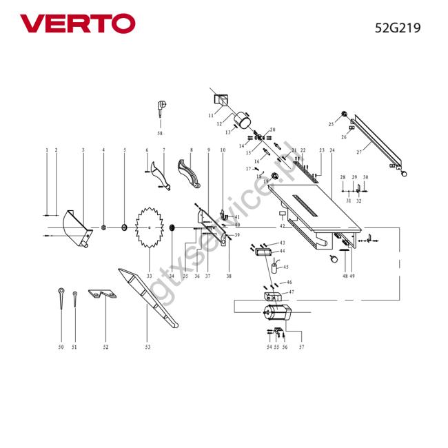 Pilarka stołowa - VERTO                                        52G219